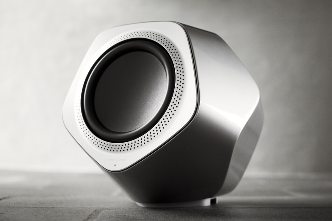 BeoLab 19 has a distinctive shape.