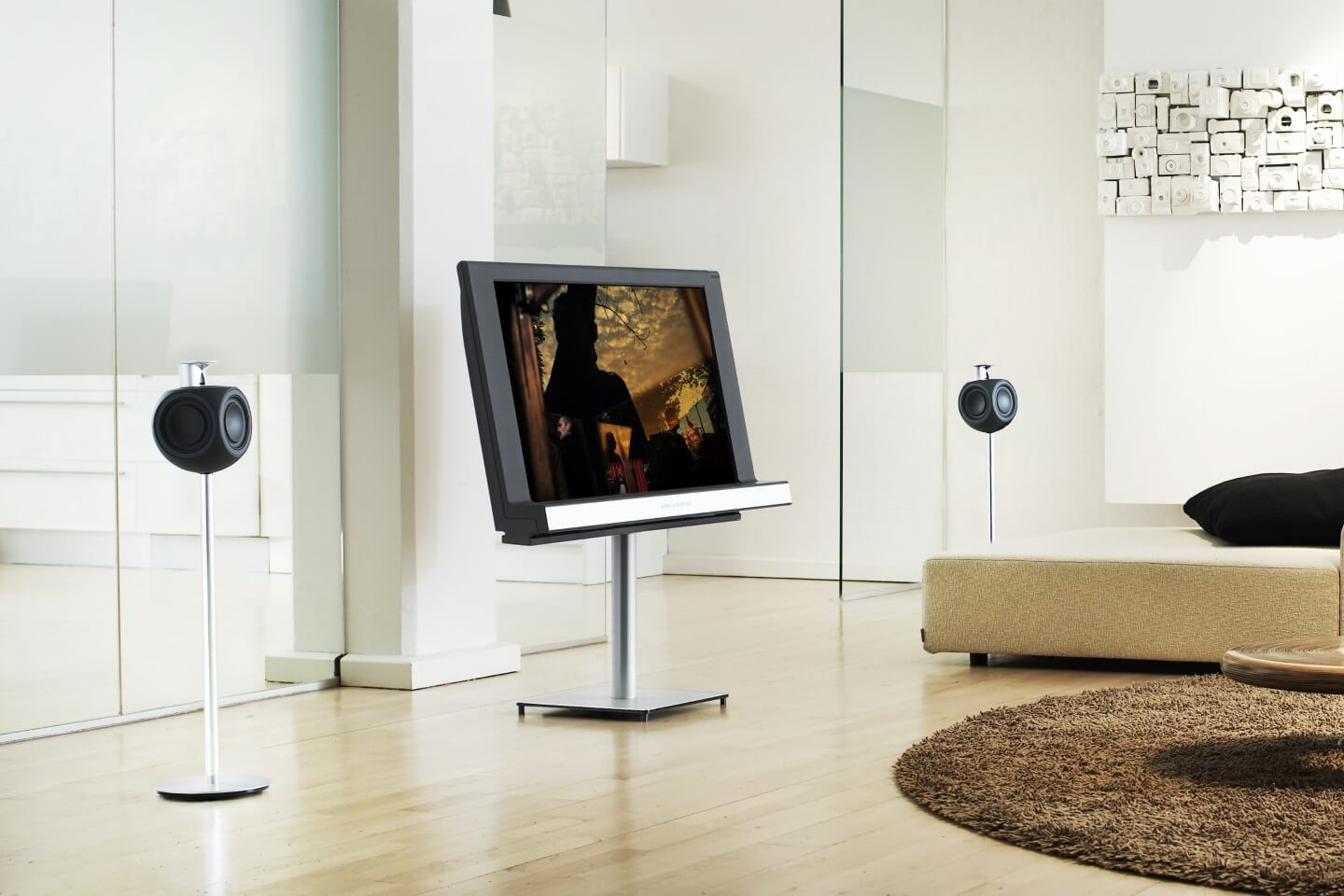 BeoLab 3 besides BeoVision