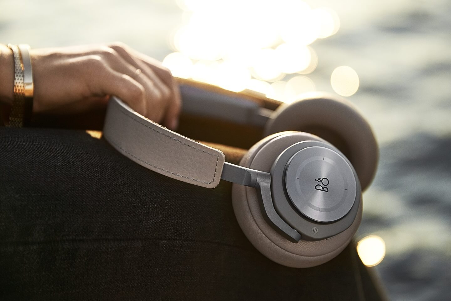 BeoPlay H9 over-ear headphones with active noise canceling.