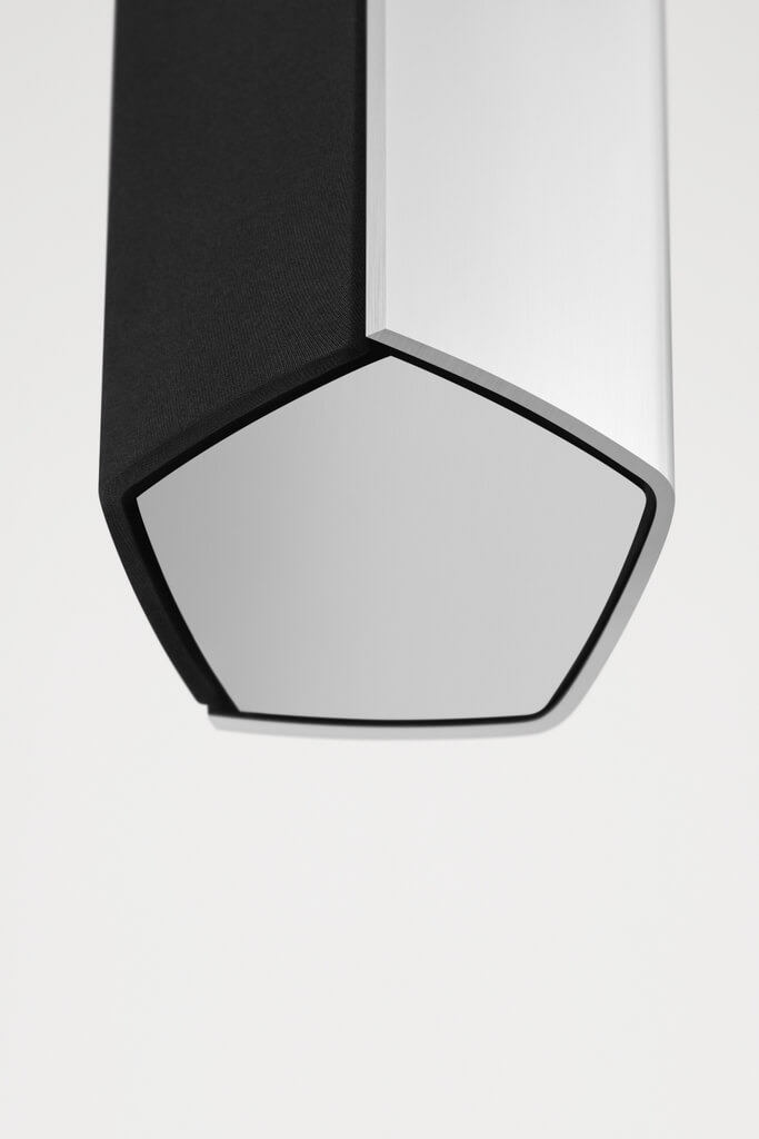BeoSound 35 has a slightly pentagonal structure