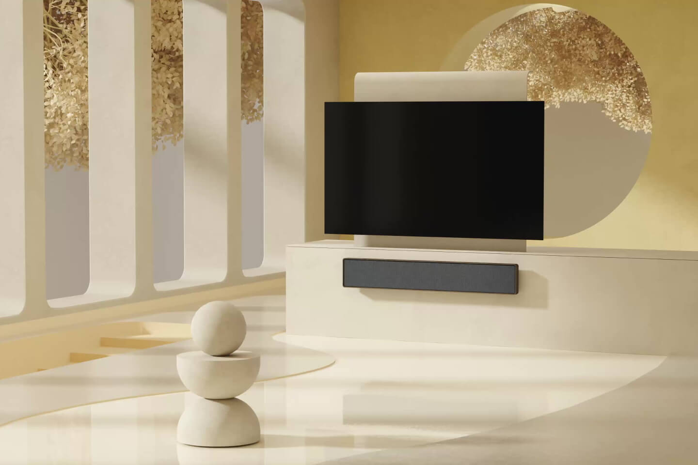 BeoSound Stage below OLED TV