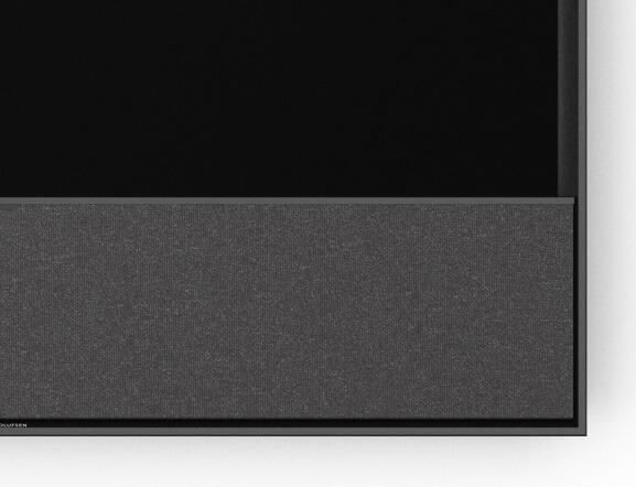 BeoVision Contour Frontabdeckung Grey Melange / Rahmen black Anthracite