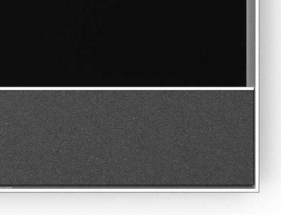 BeoVision Contour Frontabdeckung Grey Melange / Rahmen Silber