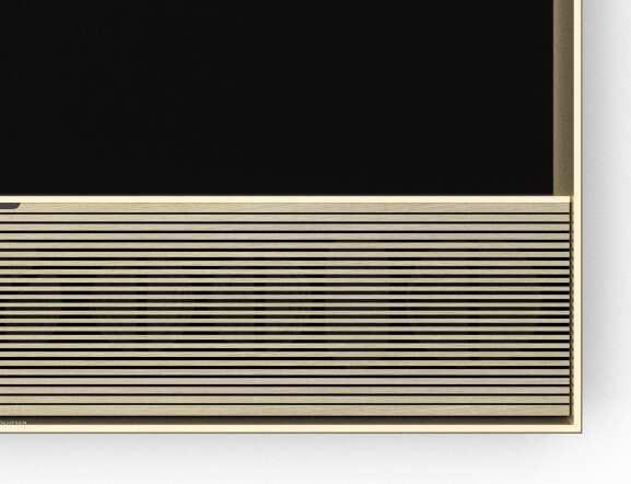 BeoVision Contour Frontabdeckung light oak / Rahmen gold tone