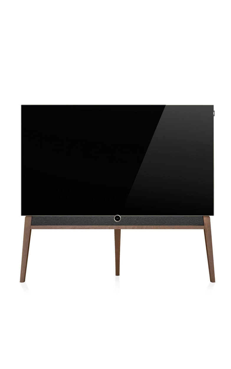Loewe Bild 5 oled on floor stand with soundbar